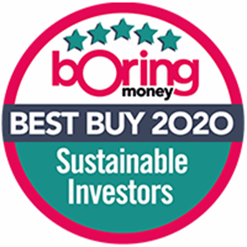 Boring Money Best Buys 2020 award - Sustainable Investors