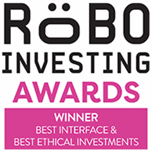 Robo Investing Awards for best interface and best ethical investments