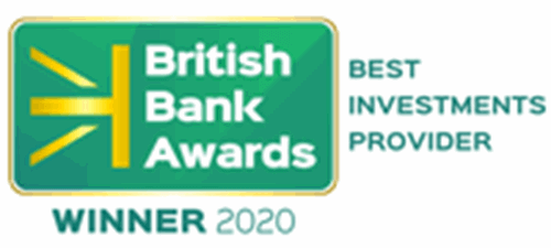 British Bank Awards 2020 award for best investment provider