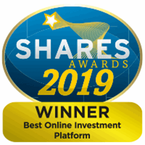 Shares Awards 2019 for best online investment provider