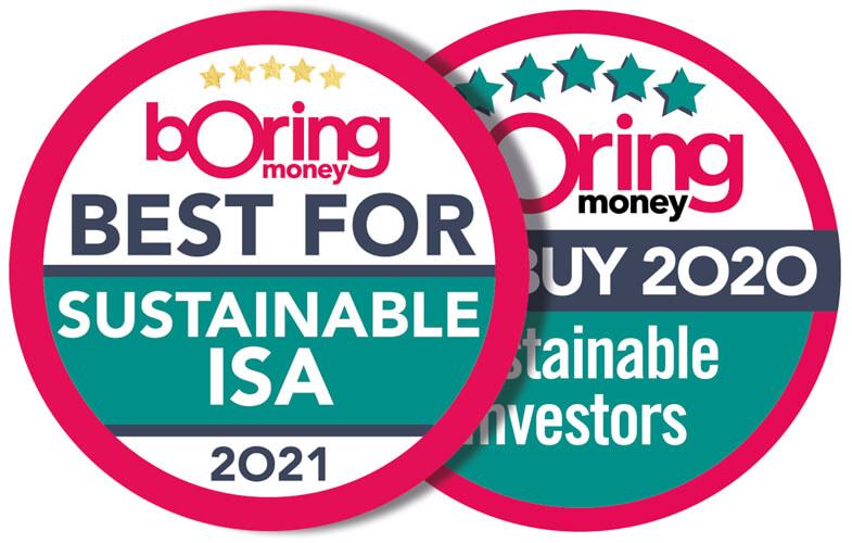 Boring Money Best Buys 2020 award - Sustainable Investors