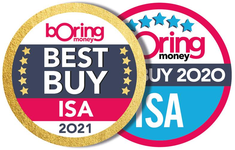 Boring Money Best Buys 2020 & 2021 ISA award