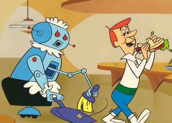 Rosie the robot with Geroge Jetson (c) Hanna-Barbera 1963